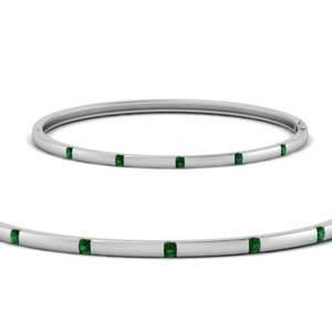Classic Emerald Bangle Bracelet