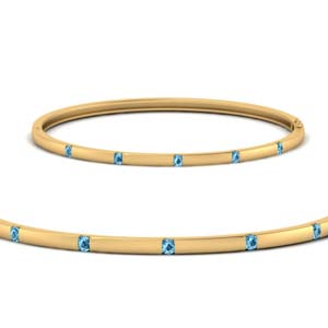 Station Bangle Topaz Bracelet