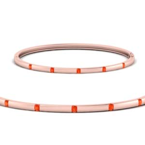 Thin Rose Gold Bangle Bracelet