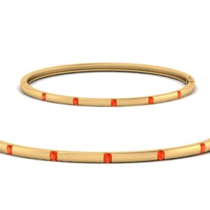 Orange Topaz Thin Bracelet