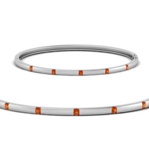 Platinum Station Bangle Bracelet