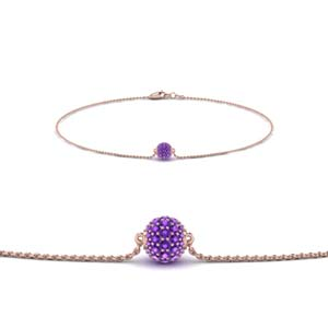 Purple Topaz Ball Bracelet