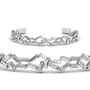 18K White Gold Bracelet For Women