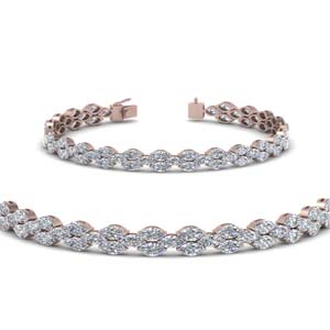 Marquise Diamond Graceful Bracelet
