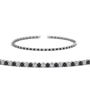 2 carat tennis bracelet with black diamond in FDBRC8635 2CTGBLACK NL WG