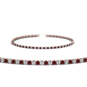 2 Carat Diamond Ruby Bracelet