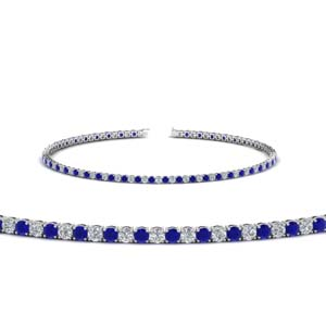 2 carat diamond tennis bracelet with sapphire in FDBRC8635 2CTGSABL NL WG