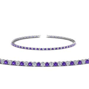 Purple Topaz 2 Carat Diamond Bracelet