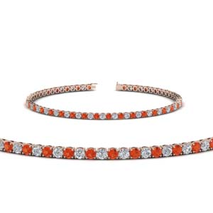Orange Topaz Tennis Bracelet