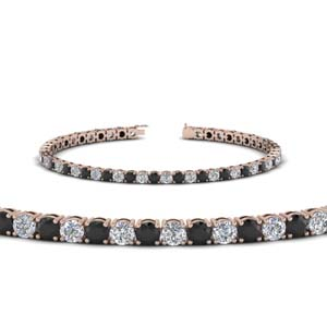 womens tennis bracelet with black diamond (5 carat) in FDBRC8638 5.5CTGBLACK NL RG