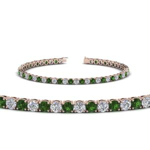 womens diamond tennis bracelet with emerald (5 carat) in FDBRC8638 5.5CTGEMGR NL RG