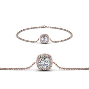 Diamond Halo Chain Bracelet