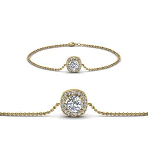 Square Halo Diamond Bracelet