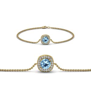 Gold Halo Chain Bracelet