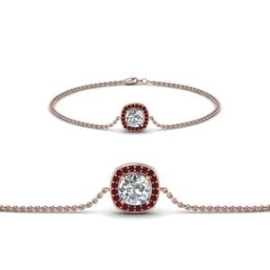 Single Halo Diamond Bracelet