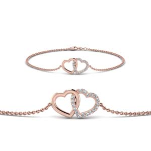 Heart Interlinked Diamond Bracelet