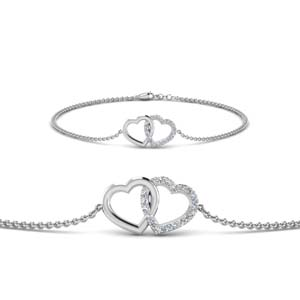 Heart Interlocked Bracelet