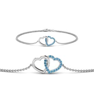 White Gold Interlocked Bracelet