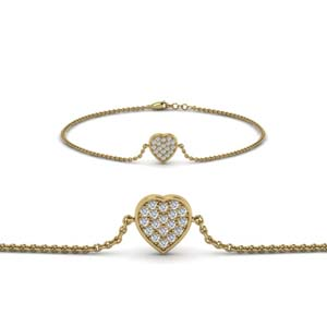 Heart Cluster Diamond Bracelet