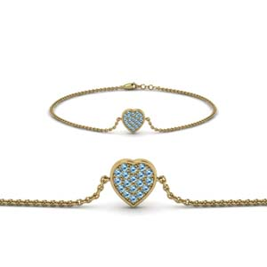 Beautiful Topaz Heart Bracelet