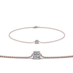 Asscher Diamond Chain Bracelet