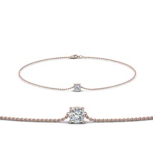 14K Rose Gold Diamond Chain Bracelet