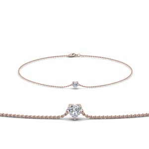 Heart Diamond Chain Bracelet