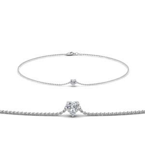 Heart Shaped Solitaire Bracelet