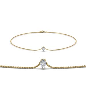 Single Pear Diamond Bracelet