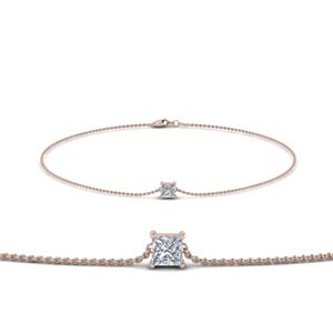 Princess Cut Solitaire Bracelet