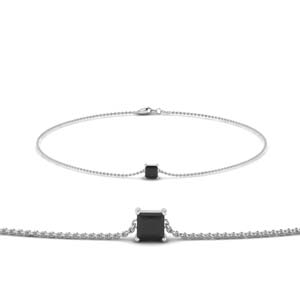 Platinum Black Diamond Chain Bracelet