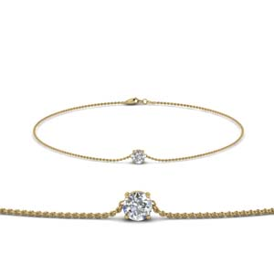 Single Diamond Chain Bracelet