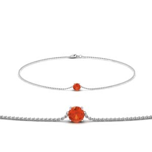 Orange Topaz Chain Bracelet