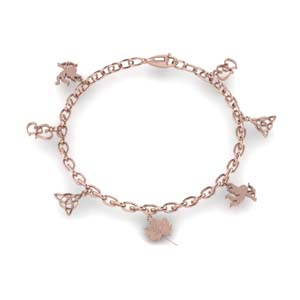 Rose Gold Charm Bracelet For Her