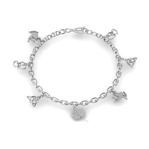 love symbol charm bracelet for girls in FDBRC8658ANGLE2 NL WG