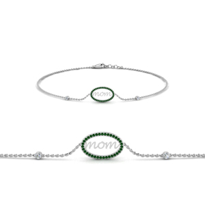 18K White Gold Emerald Bracelet