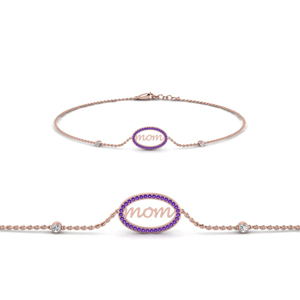 Engraved Pattern Mothers Day Bracelet