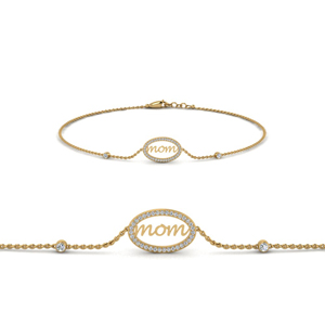 Gold Diamond Bracelet For Mother