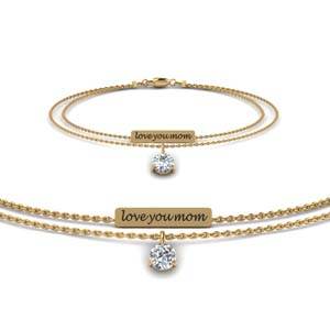 Personalized Mom Diamond Bracelet