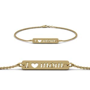 Gold Personalized Mom Bracelet