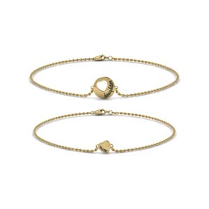 Gold Mother Daughter Bracelet