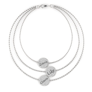 Personalized Bracelet 14K White Gold