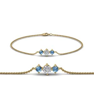Topaz With 3 Stone Bracelet