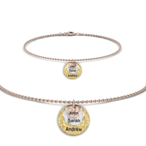 Personalized Two Tone Name Bracelet