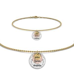 Gold Charm Bracelet With Name