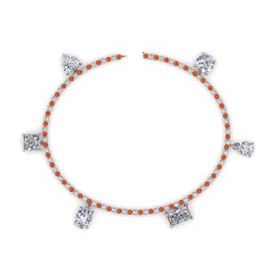 3.75 Carat Orange Topaz Mom Bracelet