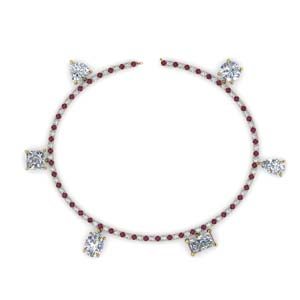 Tennis Bracelet With Pink Sapphire