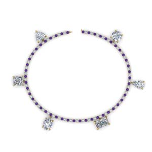 Charm Bracelet With Purple Topaz