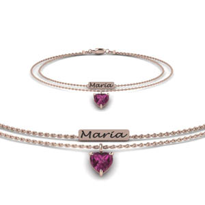 Engraved Mom Rose Gold Bracelet