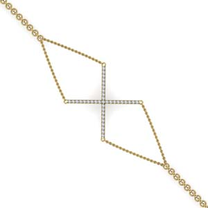 Geometrical Shape Diamond Bracelet